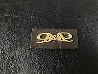 Нашивка B&B 45х20мм золото