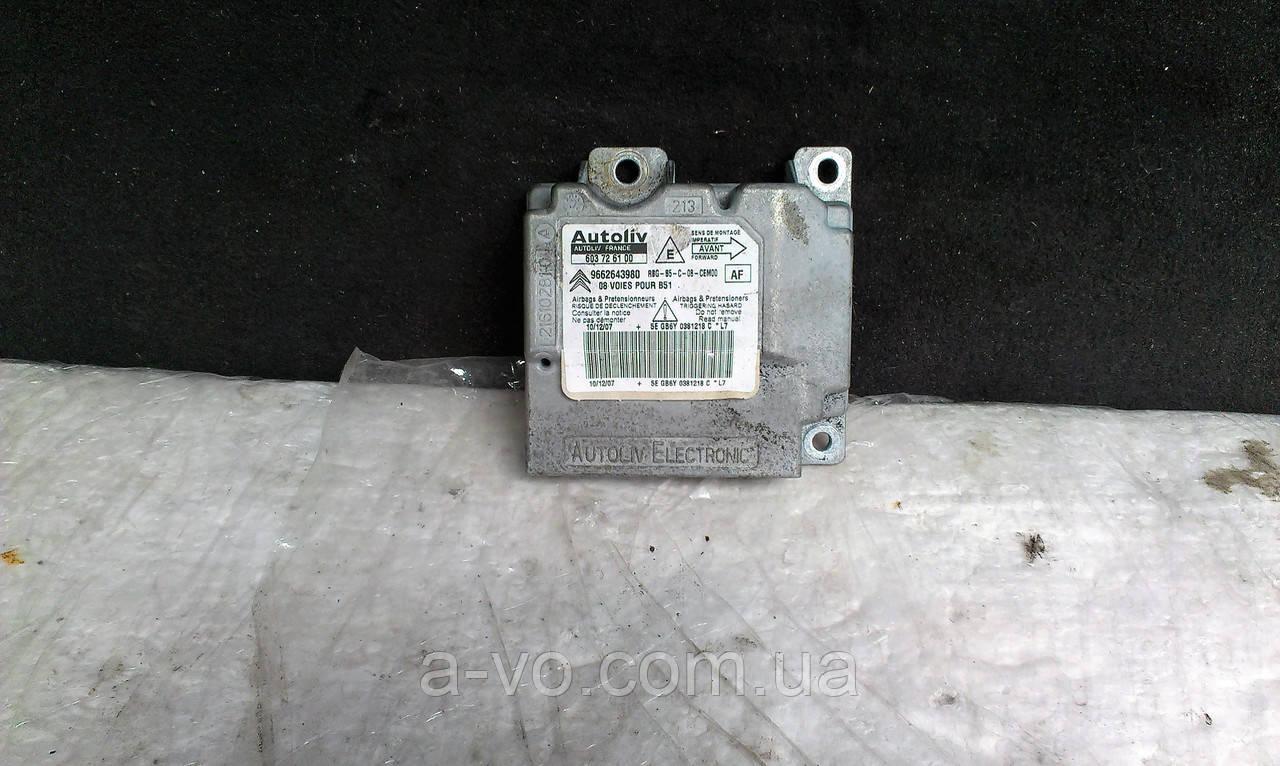 Блок Airbag Citroen C4 Peugeot 307 1.6 2.0 HDI 9662643980 603726100 216102810 5EGB6Y0381218C