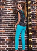 Женский костюм с шифоновой блузкой от 42- 48 размера