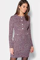 Шерстяне зимове бордове плаття Item