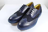 Итальянские мужские туфли броги  42 размер 28,5 см