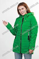 Куртка демисезонная с капюшоном зеленая Манго