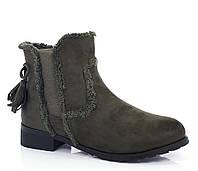 Ботинки модные женские весна осень без каблука