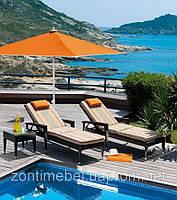 Зонт для отелей,кафе,пляжей квадратный 2,5х2,5м