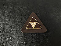 Нашивка Треугольник коричневый 40х35 мм