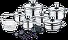 Набор кастрюль Royalty Line RL-1802 18 pcs