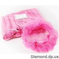 Шапочка одноразовая из нетканного материала №1, розовая