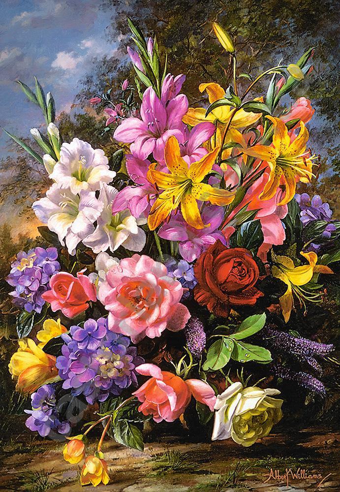 Пазлы Castorland С-103607 Ваза с цветами, 1000 элементов