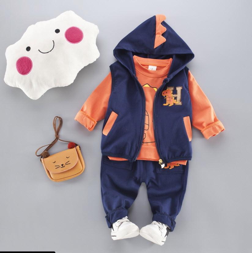 Спортивный костюм-тройка Дракоша (оранж) 80