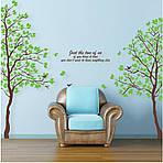 Интерьерная наклейка на стену - Дерево двойное (200х200см), фото 2
