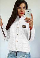 """Куртка женская на синтепоне """"Zaryna"""": распродажа белый, 42"""