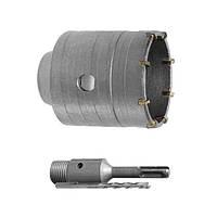 Intertool SD-7046 Комплект: сверло корончатое по бетону 46мм+Переходник SDS Plus 100мм