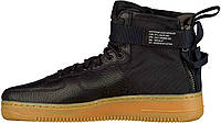 Мужские кроссовки Nike Special Field Air Force 1 Mid Black/Gum Light Brown