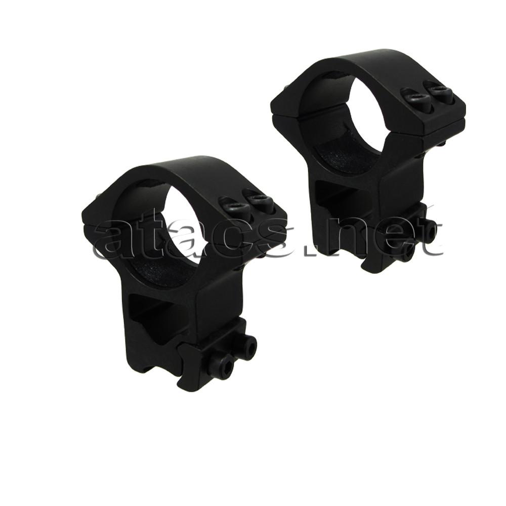 Крепления для установки оптического прицела (кольца, высокие, 4 болта)