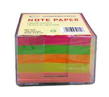 Бумага для заметок НЕОН,808, 700 л, 8*8 см, 80 гр - в пласт.коробе