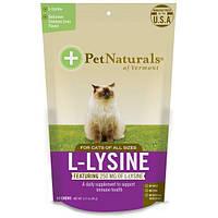 Pet Naturals of Vermont, L-лизин для кошек, куриная печенка, 60 жевательных пастилок, 3,17 унц. (90 г)