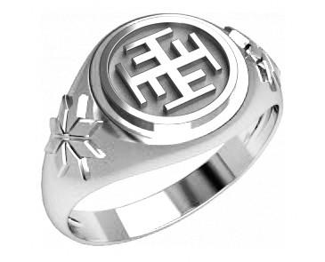 Кольцо серебряное Ратиборец и Звезда Всемирья  30333