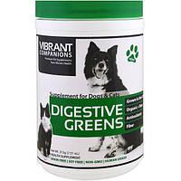 Vibrant Health, Digestive Greens, добавка для собак и кошек, 7,51 унц. (213 г)