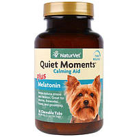 NaturVet, Quiet Moments Plus Melatonin, Calming Aid, For Dogs, 30 Chewable Tabs, 3.1 oz (90 g)