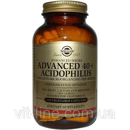 Solgar, Улучшенный ацидофилус 40+, 120 вегетарианских капсул, фото 2