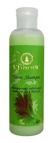 """Chandi натуральный индийский шампунь """"Ним"""" 200 мл, фото 2"""