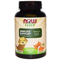 Now Foods, Здоровье иммунной системы собак/кошек, 90 жевательных таблеток