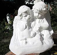 Бетонные скульптуры Украина. Скульптура Два ангелочка из бетона. Ангелочки близнецы, фото 1