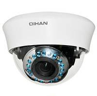 Внутренняя купольная аналоговая камера видеонаблюдения  QIHAN QH-D206C-3