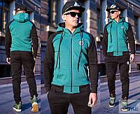 Спортивный утепленный костюм с капюшоном с 46-52 размер, фото 1