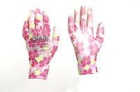 Перчатки с ПУ покрытием р8 (цветные садовые манжет)