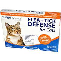 21st Century, Защита от блох и клещей для кошек от 8 недель и старше, 3 аппликатора по 0.017 жидких унций каждый