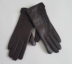 """Перчатки коричневые женские кожаные """"Elegant"""""""