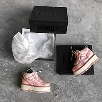 Женские кроссовки Fenty x Puma Boots Pink, фото 2