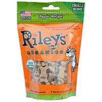 Rileys Organics, Угощение для собак, Маленькая кость, Яблоко, 5 унций (142 г)