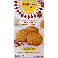 Simple Mills, Натуральное хрустящее печенье без глютена с корицей, 156 г (5,5 унций)