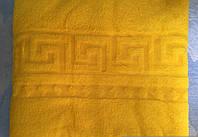 Махровая простыня Версаче 200*220. Желтая.
