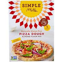 Simple Mills, Натуральная смесь миндальной муки без глютена, тесто для пиццы, 9,8 унции (277 г)
