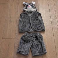 Детский карнавальный костюм Зайчика (серый)