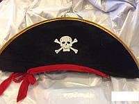 Шляпа пирата с лентой карнавальная
