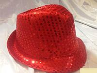 Шляпа гангстерская с пайетками