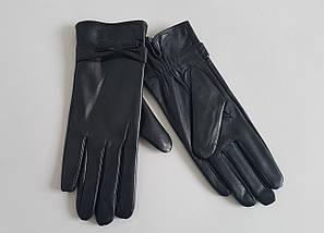 """Кожаные перчатки """"Elegant"""" черного цвета"""
