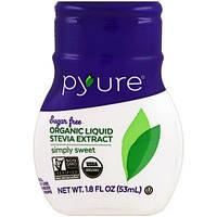 Pyure, жидкий экстракт стевии органического происхождения, просто сладкий, 53 мл (1,8 унции)