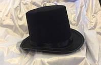 Шляпа цилиндр черный фокусник
