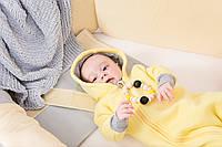 Комбинезон (человечек) на молнии для новорожденного Желтый р.62