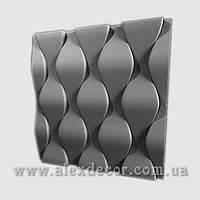 3D панель Чешуя 500х500х28мм