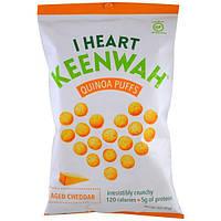 I Heart Keenwah, Шарики с киноа, Зрелый чеддер, 3 унции (85 г)