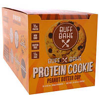 Buff Bake, Протеиновое печенье, Арахисовое масло, 12 штук, 2.82 унций (80 г) каждая