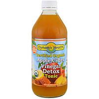 Dynamic Health Laboratories, Тоник для выведения токсинов с органическим яблочным уксусом, 16 жидких унций (473 мл)
