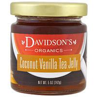 Davidsons Tea, Органический джем из чая с кокосом и ванилью, 142 г (5 унций)