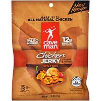 Caveman Foods, вяленая, курица острая барбекю, 2,5 унции (71 г)